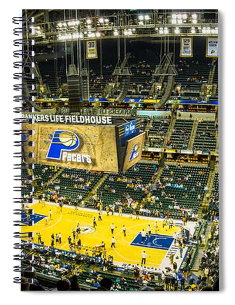 Bankers Life Fieldhouse - Home Of The Indiana Pacers Spiral Notebook