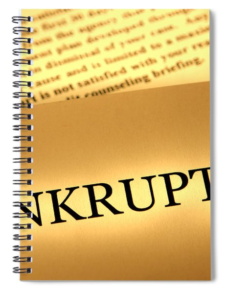 Bankruptcy Notice Spiral Notebook