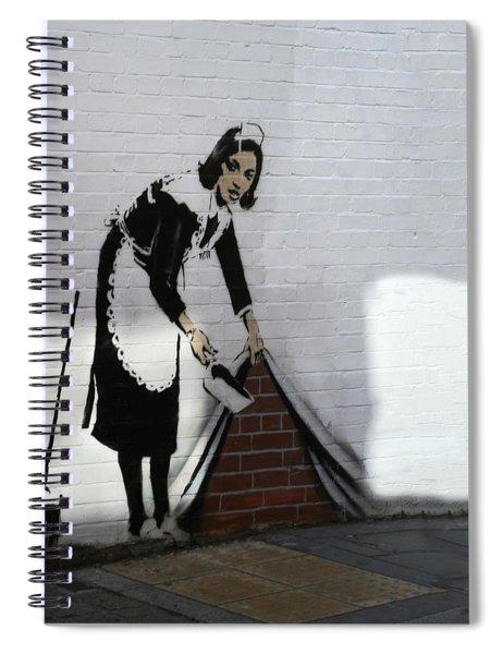 Banksy Maid Spiral Notebook