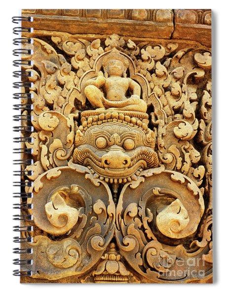 Banteay Srei Carving 01 Spiral Notebook