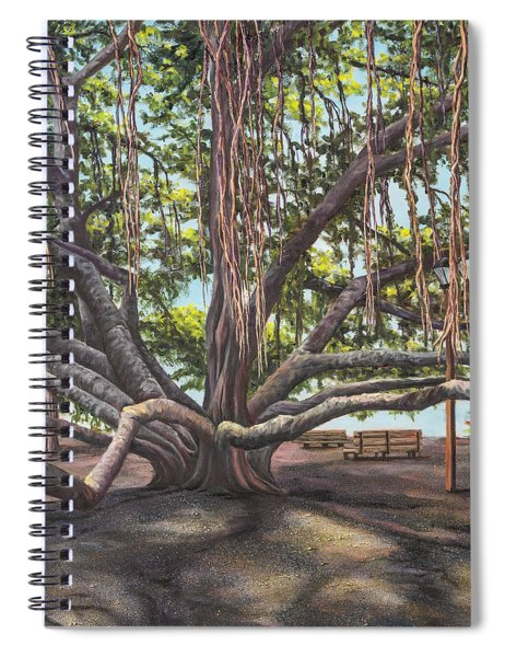 Banyan Tree Lahaina Maui Spiral Notebook