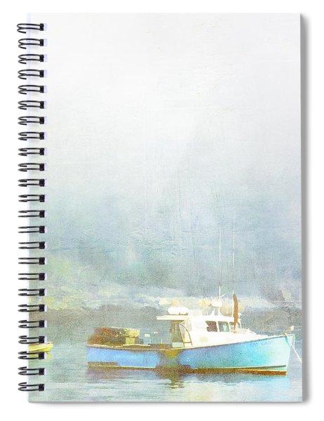 Bar Harbor Maine Foggy Morning Spiral Notebook