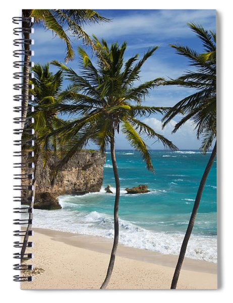 Spiral Notebook featuring the photograph Barbados Beach by Brian Jannsen