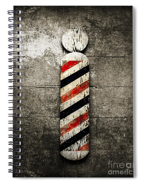 Barber Pole Selective Color Spiral Notebook