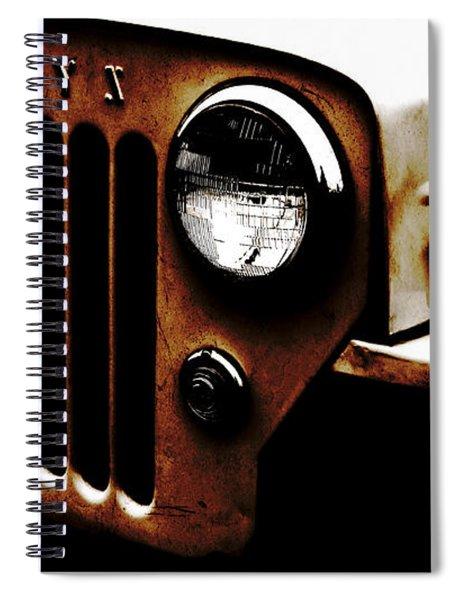 Bare Bones Rusty Spiral Notebook