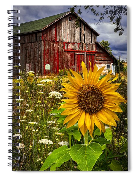 Barn Meadow Flowers Spiral Notebook