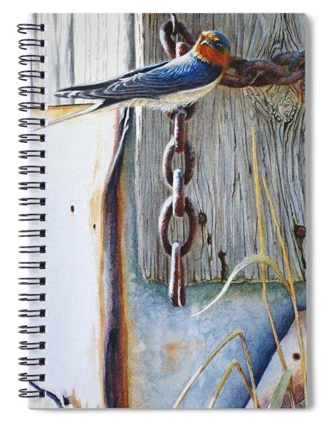 Barn Swallow Spiral Notebook