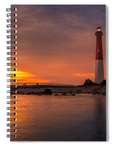 Barnegat Sunset Light Spiral Notebook