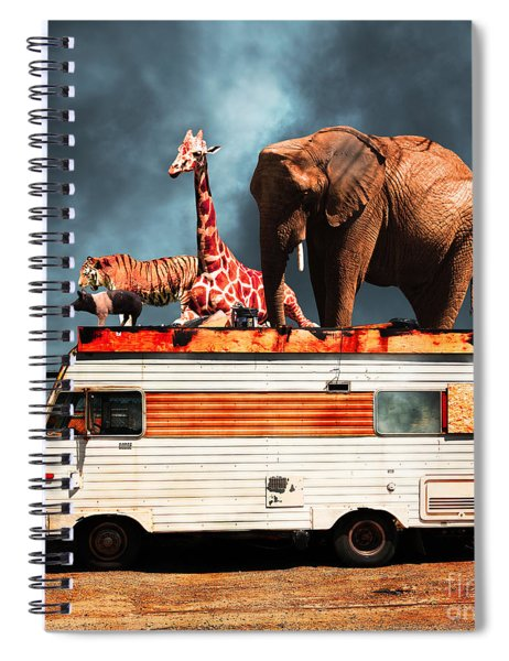 Barnum And Bailey Goes On A Road Trip 5d22705 Square Spiral Notebook