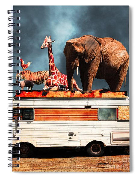 Barnum And Bailey Goes On A Road Trip 5d22705 Vertical Spiral Notebook