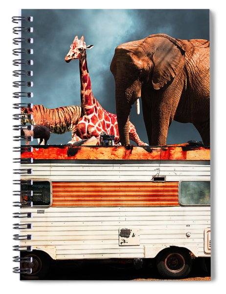 Barnum And Baileys Fabulous Road Trip Vacation Across The Usa Circa 2013 5d22705 With Text Spiral Notebook