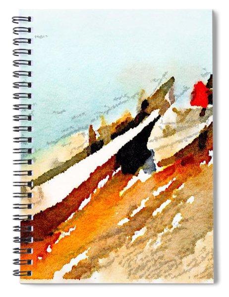 Barques Sur Le Chari Spiral Notebook
