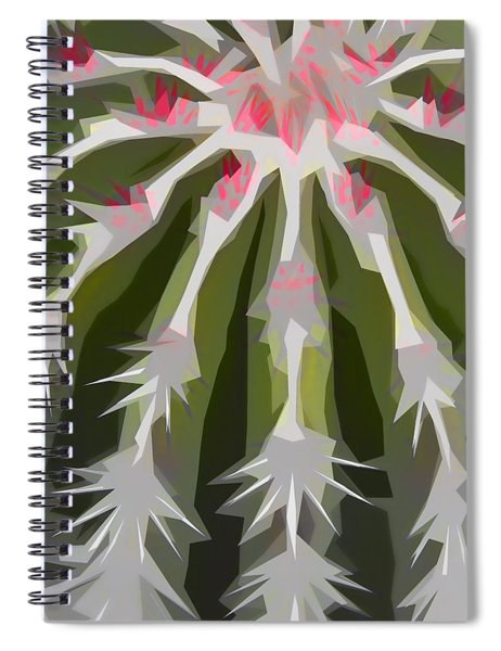 Barrel Cactus Collage Spiral Notebook