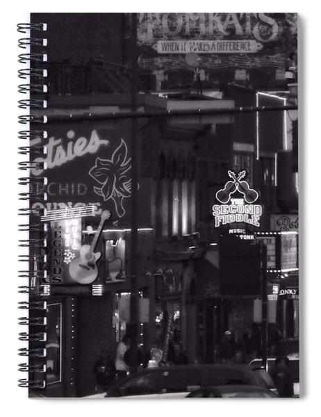 Bars On Broadway Nashville Spiral Notebook