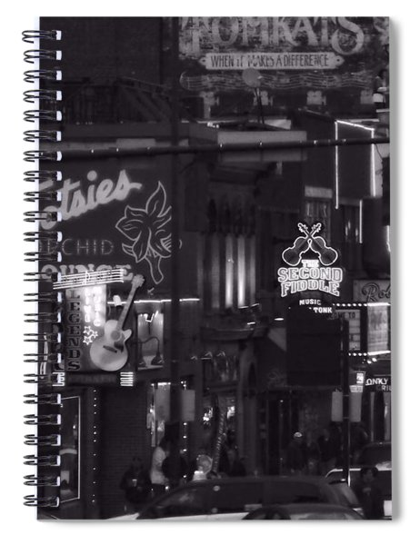 Bars On Broadway Nashville Spiral Notebook