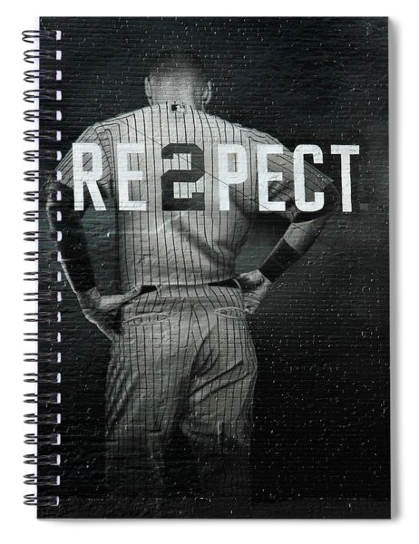 Baseball With Jeter Spiral Notebook