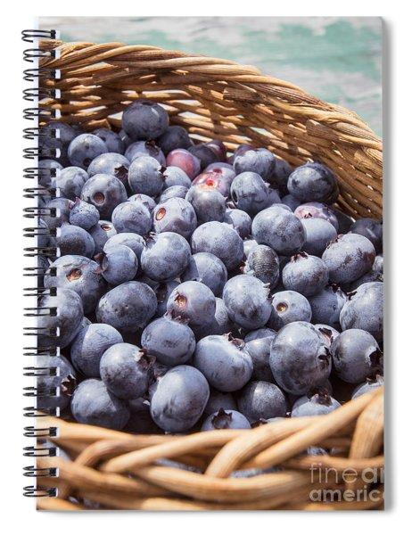 Basket Of Fresh Picked Blueberries Spiral Notebook