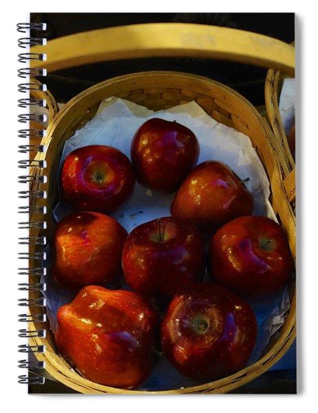 Basket Of Red Apples Spiral Notebook