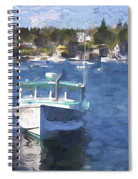 Bass Harbor Maine Painterly Effect Spiral Notebook