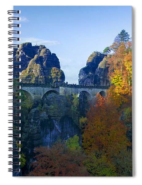 Bastei Bridge In The Elbe Sandstone Mountains Spiral Notebook