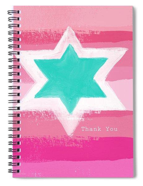Bat Mitzvah Thank You Card Spiral Notebook