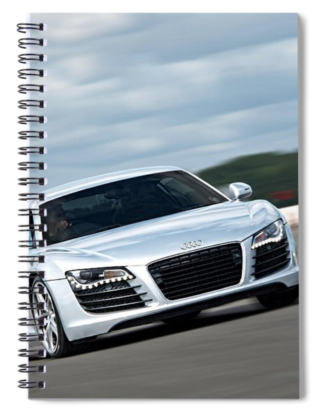 Bat Out Of Hell - Audi R8 Spiral Notebook