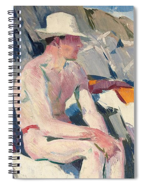 Bather In A White Hat Spiral Notebook