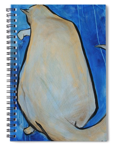 Bathing In Blue  Spiral Notebook
