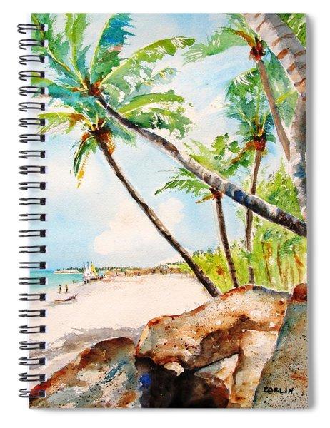 Bavaro Tropical Sandy Beach Spiral Notebook