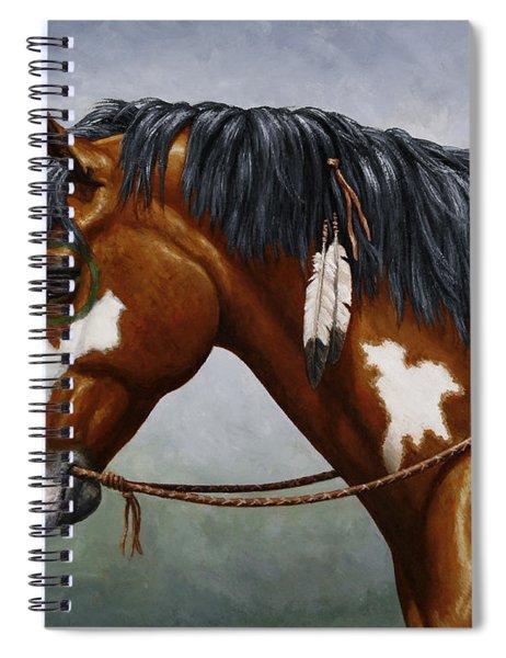 Bay Native American War Horse Spiral Notebook