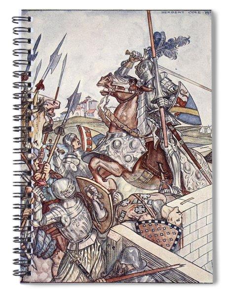 Bayard Defends The Bridge, Illustration Spiral Notebook