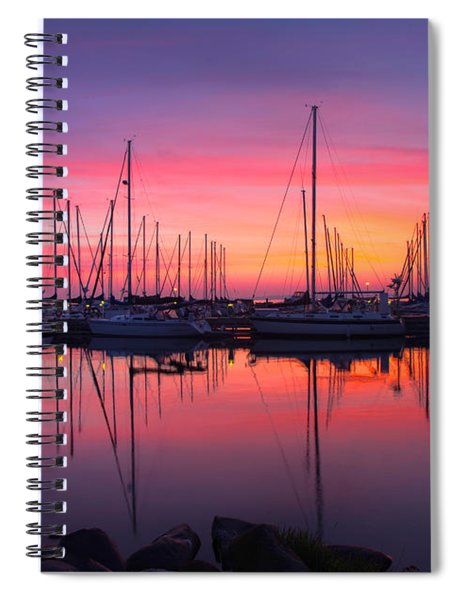 Bayfield Wisconsin Magical Morning Sunrise Spiral Notebook