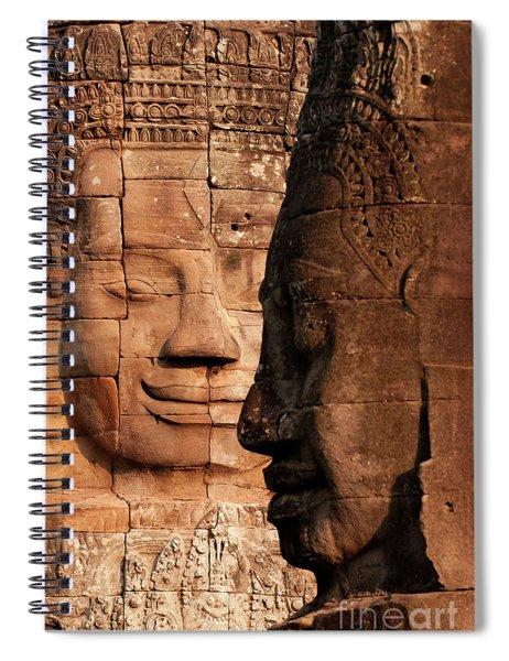 Bayon Faces 02 Spiral Notebook