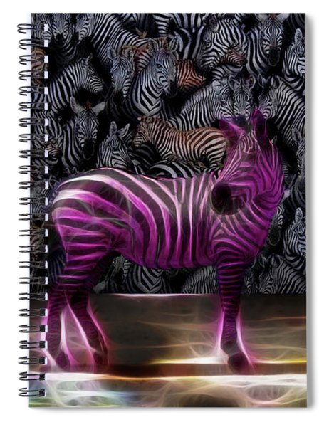 Be Courageous - Be Different - Zebra Spiral Notebook