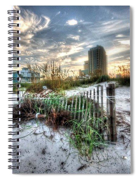 Beach And Buildings Spiral Notebook