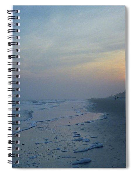Beach And Sunset Spiral Notebook