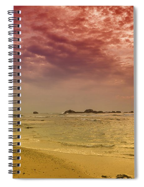 Beach And Sunset Spiral Notebook