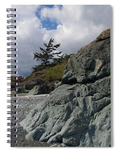 Beach At Fort Rodd Hill Spiral Notebook