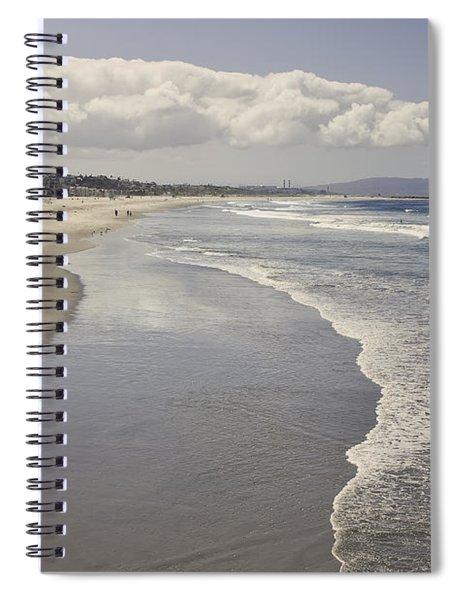 Beach At Santa Monica Spiral Notebook