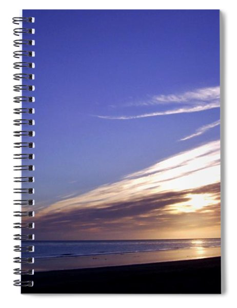 Beach Blue Sunset Spiral Notebook