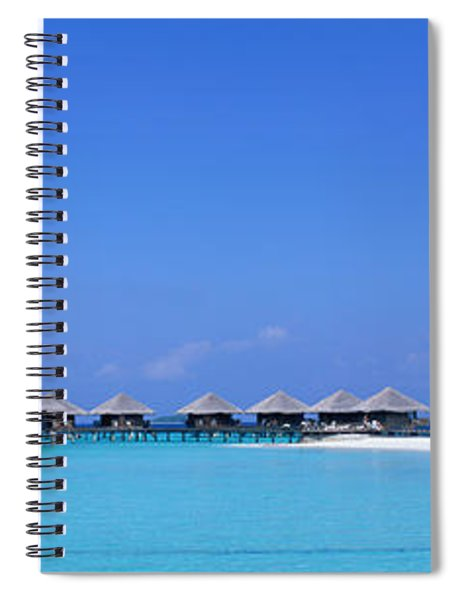 Beach Cabanas, Baros, Maldives Spiral Notebook