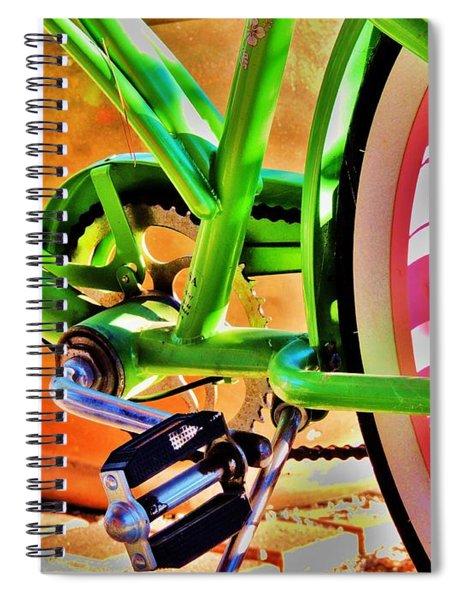 Beach Cruiser Spiral Notebook