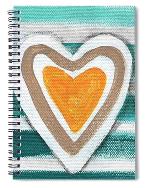Beach Glass Hearts Spiral Notebook