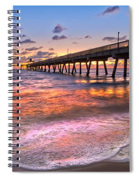 Beach Lace Spiral Notebook
