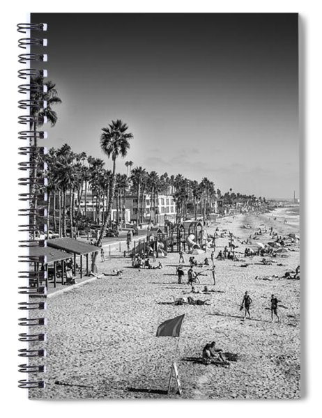 Beach Life From Yesteryear Spiral Notebook