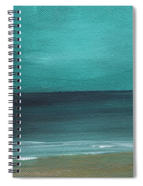 Beach Morning- Abstract Landscape Spiral Notebook