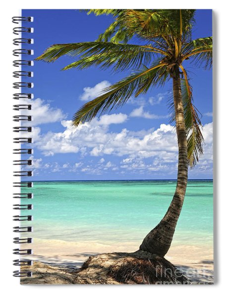 Beach Of A Tropical Island Spiral Notebook