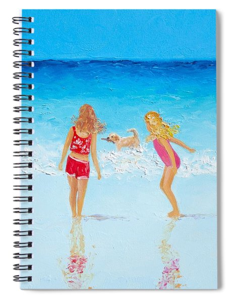 Beach Painting Beach Play Spiral Notebook