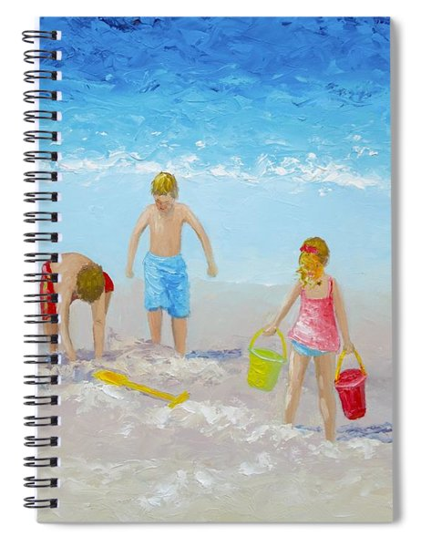 Beach Painting - Sandcastles Spiral Notebook