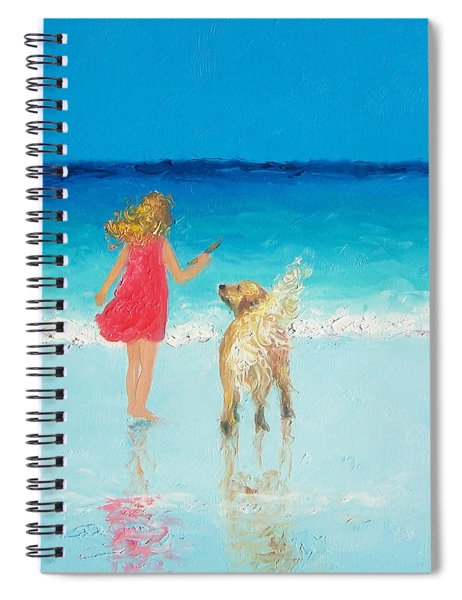 Beach Painting 'sunkissed Hair'  Spiral Notebook